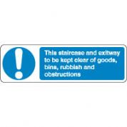 Mandatory Safety Sign - This Staircase 159